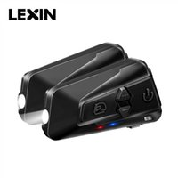 Nueva llegada LEXIN LX-G16 2 unids Casco de motocicleta Intercom Bluetooth5.0 Auriculares con música compartida para 16 jinetes IP67 impermeable