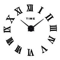 Wall Clocks Quartz Brief Watches 3d Real Big Clock Rushed Mirror Stickers Diy Living Room DISCOUNTS Still Life