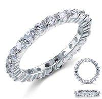 Victoria Wieck Jewelry de lujo Marca Desgin 925 Sterling Silver Blanco Topaz Redondo Piedras Gemstones Femenino Anillo de regalo de la boda Tamaño de regalo 5-11