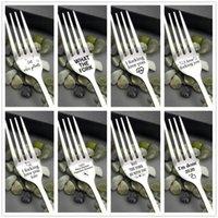 Tatlı Kelime ile Gümüş Çatal Aile ve Arkadaşlar Sofra Hediye Festivali Hediye Ev Mutfak Çatal Yemek Aksesuarları