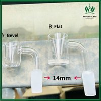 4mm thick banger domeless quartz nail 10mm 14mm 18mm male female 90 Degree for glass water pipe bong wax oil rig