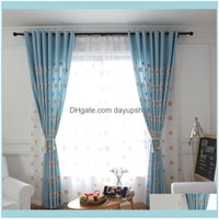 Curtain Drapes Deco El Supplies Home & Gardenmodern Simple Leisure Fresh Children Embroidery Shade Curtains For Living Dining Room Bedroom.