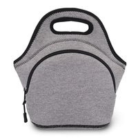 Storage Bags Portable Lunch Bag Neoprene Food Camping Box Waterproof Tote Travel Snack Organizer Handbag Bento Pouch