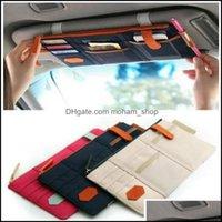 Huskee Organisation Hem Gardencar Sun Visor Point Pocket Card Storage CD-hållare Arrangör Påse Bag 5 Färger 29 x 14,5cm Väskor Drop Deli