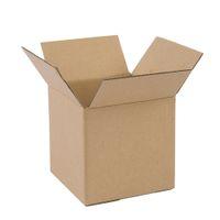 Waco гофрированные коробки почтовики доставки коробки, крафт картонные бумаги коробки подарочные коробки - желтый 7x7x7in (пакет 100)