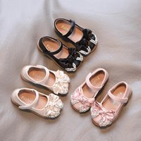 Flat Shoes Spring Autumn Baby Girls Cute Bow Patent Leather Princess Solid Color Kids Gilrs Dancing First Walkers 10 11 Y