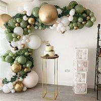 152pcs Avocado Green Balloons Garland Arch Kit Retro Green Green Chorme Gold Latex Globos Compleanno San Valentino Decori per feste nozze 2021
