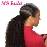 4A 4B Afro Kinky Curly Clip In Extensions 10-30 Inch MS Lula Brazilian Remy Human Hair Ponytail Natural For Black Women