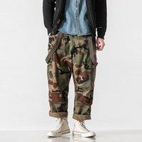 Pantalones de camuflaje de estilo de primavera Hombres al aire libre para hombre Senderismo de excursión de combate de combate Disparos de múltiples bolsillos sueltos
