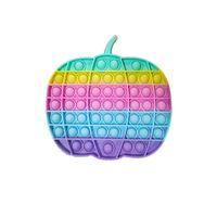 5 pcs Fantasma de Abóbora de Bolhas de Silicone de Halloween Bolhas Popper Brinquedos 20cm Grande Tamanho Big Sensory Fidget Push Pops Dedo Puzzle Rainbow Poo-Seus Crianças Festa Presentes G81idsu
