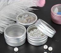 10g Boş Alüminyum Kozmetik Konteyner Teneke Lüks Yuvarlak Alüminyum Kavanoz Tırnak Dekorasyon El Sanatları Pot Şişe BWF5530