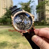 MENS Automatic Watches Master 46mm Excalibur Aranha 18 Karat Dial Gold Hollow Mens Masculino Sport Watches