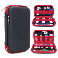 GHKJOK Carry external hard drive Case Organiser Small, Multiple USB Sticks, Memory Cards, Cables & Smart Mobile Phone Cables