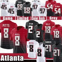 8 Kyle Pitts 2 Matt Ryan 18 Ridley Falcon Football Jersey 7 Michael Vick Atlantas Tony Gonzalez Dreon Sanders Dreony Jones Grady Jarrett Terrell Jr.Dennard Dirty Vögel