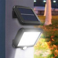100 LED'ler Güneş Işık Açık Duvar Lambası Hareket Sensörü Ile Güneş Enerjisi Akıllı Bahçe Spot Işık Sokak Lambası Gece Güvenlik