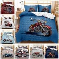 Bedding Sets 3D Digital Printing Cool Locomotive Motorcycle CartoonBoy Girl 2 3pc Bedroom Quilt Cover Pillowcase Double Bed Set Sheet