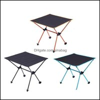 Outdoor And Sports & Outdoorsoutdoor Pads Portable Foldable Table Cam Tralight Aluminum Bbq Picnic Hiking Desk Fishing Tra Light Folding Dro