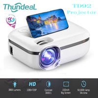 Thundeal 5G LCD WiFi Digital Mini Portable Projector TD92 Native 720P Smart Phone Projectors 1080P Video 3D Home Theater Proyector With Retail Gift Box Free DHl