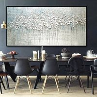 Arthyx Pop Art Pintado a mano Paleta gruesa Cuchillo de paleta de flores Pintura al óleo sobre lienzo Abstracto Pintura de pared Sala de estar Decoración de la pared 210310
