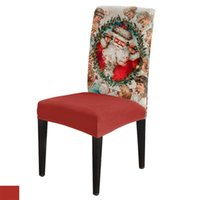 Chair Covers Christmas Santa Cover Stretch Living Room For Dining Home Decor