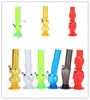 Colored Acrylic Bongs 12.5inches Height Recycler Dab Rig Diffused Downste Perc Glass Water Bong Smoking Hookah Acrylic Bong Cheap Smoking Hookah Random Color