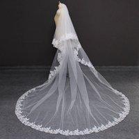Cathédrale de dentelle 2 couches de mariage Veil de mariage de 3 mètres 2T Couvercle Vitre de mariée avec accessoires de mariage à rougeur peigne