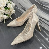 Dress Shoes Summer Style Stiletto High Heel Lace Pointed Bridal Wedding Large Size Small Wild Banquet Female Sandals