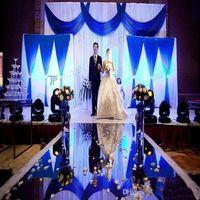 10m por lote 1m de ancho brillo espejo plateado alfombra de la alfombra para el corredor de la boda romántica Favores de la fiesta DHL envío gratis