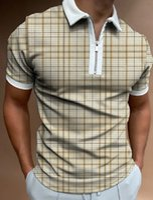 Unkompliziertes Muster Herren Reißverschluss Poloshirt Hohe Qualität Komfortable Atmungsaktiv modische tägliche tägliche Reisearbeitsgruppe