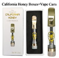 Copper Tips Atomizers California Honey Vape Cartridges Package Bags 1ml 0.8ml Thick Oil 510 Thread Cartridge Vapes Carts Packaging Box Stickers Vaporizer Pens