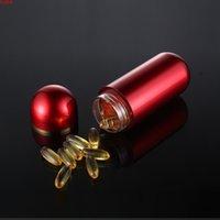 Ouro prata vermelho azul 60ml 20pcs caixa de comprimido, produtos de saúde dos homens vazios produtos pequenos, recipiente de cápsula, frascos de medicina