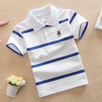 Жаргазол футболка детская одежда поворотный воротник ребёнок лето топ футболки цветные полосы вешений Enfant Fille Camisetas fnaf q0203