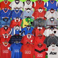 الإصدار الرجعية 1992 1994 1996 2002 United Soccer Jerseys 1999 2000 نهائيات كرة القدم قمصان Giggs Scholes Beckham Ronaldo Manchester Vitage 1990 1998 Cantona Keane