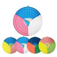 26cm Fidget Push Bubble Puzzle Color Patchwork Cerchio Scacchiera da barretta Bolle Bolle Sensoriale Panorami Multiplayer Grande Dice Chessboard Bubble CT01