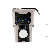 Cute Pencil Case Storage Standing Pen Holder Telescopic Makeup Pouch Pop Up Cosmetics Bag Stationery Office Organizer Box For Girls NHD9140