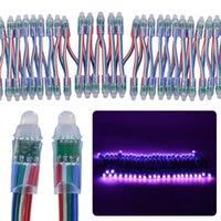 Быстрая доставка 200 шт. 50 шт. / Стинг DC 5V / 12V 12 мм F8 RGB LED Pixel Module Light IP68 Водонепроницаемый RGB Светодиодная строка