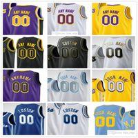 Özel Baskılı Los Angeles 23 Anthony LeBron Davis James 6 Lakers Kyle KUZMA Dennis Schroder Alex Caruso Andre Drummond Erkekler Kadınlar Çocuklar Gençlik Basketbol Formaları
