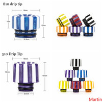 2 Styles Rainbow Mushrooms Stripe Epoxy Resin 810 510 Vape D...