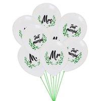 12 дюймов белый мистер миссис только что замужем напечатанный латексный воздушный шар свадьба украшения гелий латексные воздушные шары вечеринки