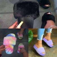 ZQ4 Leadcat Fenty Slayt Bandana Rihanna Ayakkabı Yüksek Kaliteli Kadın Tasarımcı Fenty Rihanna Terlik Fenty Kadın Terlik Slayt Yay Dener