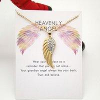 Alas de alas de ángel collar colgante collar de bloqueo