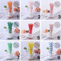 Frutta succo bevande eco-friendly paglie colorate dot biodegradable carta paglia da sposa bambini compleanno festa decorazione gwd9587