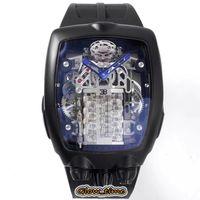 BGF 2021 Últimos produtos Super Running 16 Cilindro Motor Preto Dial Epic X Chrono Cal.v16 Mens Automático Assista Preto Caso Luxry Watches