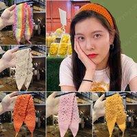 Knitted Fashion Headbands Hollow Women's Wool Braided Hair Bands Headwear Retro Hair Scarf Headband Hair Accessories
