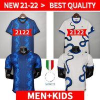 Версия для игрока Inter 2021 2022 Футбол Джерси Лукаку Милан Видаль Барелья Lautaro Eriksen Alexis Hakimi 21 22 Футбольная рубашка Униформа мужчин