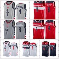 2021 Недорогие мужчины Ретро Баскетбол Джерси Хачимура 8 Робин Westbrook 4 Bradley Deni 9 Avdija Vintage Размер S-2XL Синий Белый Черный Красный