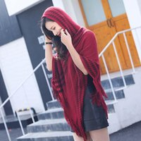 Scarves Women Knitted Poncho Pullover Acrylic Autumn Winter Casual Sweater Sleeveless Solid Cape Female Sweaters Lady Clothes