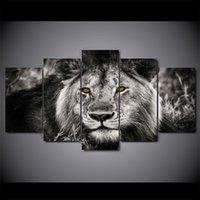 5 Panel Lion Kopf Wandkunst Poster Druckbild Leinwand Malerei Für Wohnzimmer Wohnkultur Cuadros Decorativos