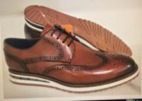 Factory_footwarbe Neueste Dietzer Herren Air Shoed Schuhe Eidechse Druck Rindsleder Stoff mit importierten flachen Wadenlaser Kleine Runde Loch Atmungsaktiv