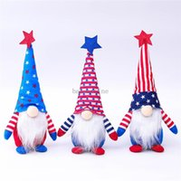 Patriotic Gnome American Independence Day Dwarf Doll 4th of July Gift Stars and Stripes Handmade Scandinavian Ornaments Kids Doll